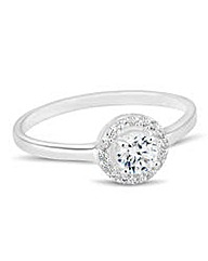 Simply Silver clara cubic zirconia ring