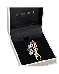 Jon Richard Floral heart spray brooch