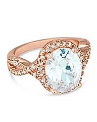 Jon Richard oval rose gold ring