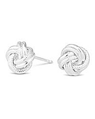 Simply Silver knot stud earring
