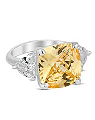 Jon Richard Yellow facet surround ring