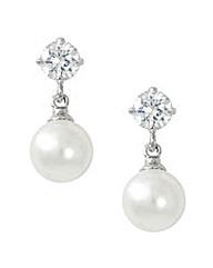 Jon Richard Cubic Zirconia Pearl Earring