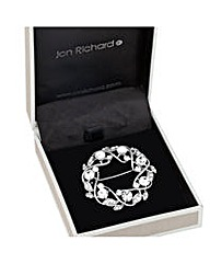 Jon Richard Crystal open wreath brooch