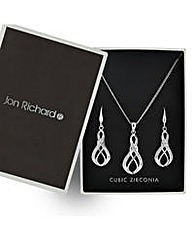 Jon Richard infinity drop jewellery set
