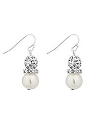 Jon Richard Crystal ball pearl earring