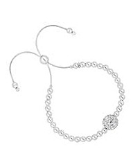 Simply silver crystal toggle bracelet