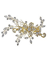 Jon Richard Gold crystal vine hair slide