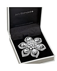 Jon Richard crystal peardrop brooch