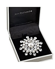Jon Richard pearl crystal cluster brooch