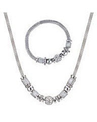 Mood mesh and crystal jewellery set