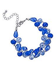 Mood tonal facet bead twist bracelet