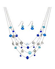 Mood facet bead multirow jewellery set