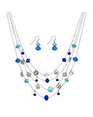 Mood facet bead multirow jewellery set
