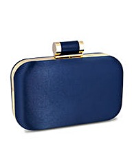 Jon Richard satin toggle clutch bag