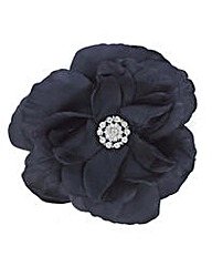 Mood Layered black floral corsage