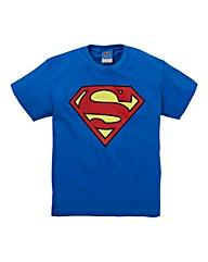 Superman Textured Logo T-Shirt