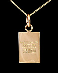 9ct Yellow Gold Together Forever Pendant