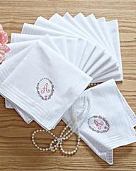 Ladies Initial Handkerchiefs