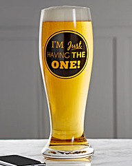 Just the One 2.5 Pint Glass