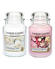 Yankee Candle Set of 2 Large Jars