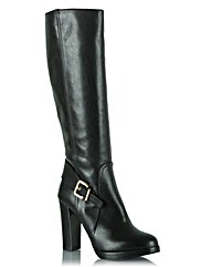 Daniel Elation Knee High Buckled Boot