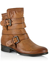 Daniel Marvelous Tan Leather Ankle Boot