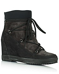 Daniel Nurture Lace Front Wedge Boot