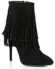 Daniel Positive Fringed Ankle Boot