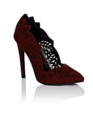 Little Mistress Burgundy Court Heel