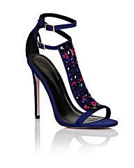 Little Mistress Cobalt Stone T-bar Heel