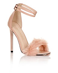 Little Mistress Blush Fur Heel
