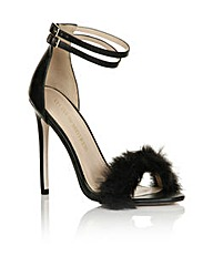 Little Mistress Black Fur Heel