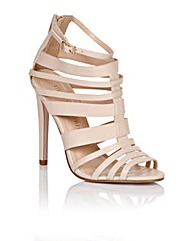 Little Mistress Nude Multi Strap heel