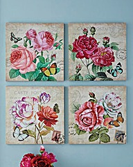 Vintage Rose Square Canvas 16 Inch