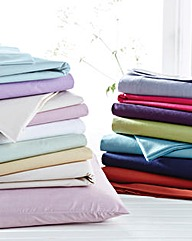 Polycotton Percale Hwife Pillowcase Pair