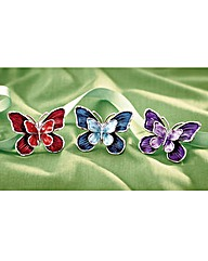 Butterfly Brooches Set of 3