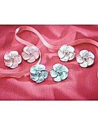 Flower Clip On Earrings Set of 3