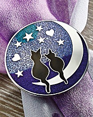Cat and Mooon Scarf Ring