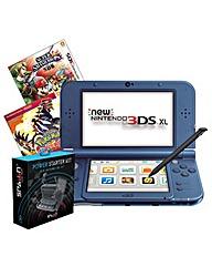 3DS XL + Pokemon + Super Smash Bro