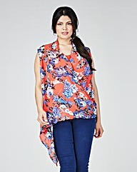 Lovedrobe Printed Asymmetric Top