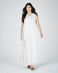Lovedrobe Embellished Pleated Maxi Dress