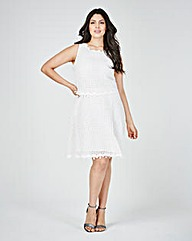 Lovedrobe Crochet Layer Dress
