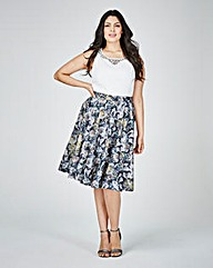 Lovedrobe Print Prom Dress