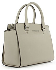 Michael Kors Grey Leather Top Zip Bag