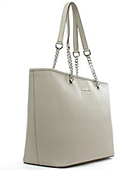 Michael Kors Grey Saffiano Leather Bag