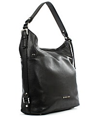 Michael Kors Belted Black Leather Bag