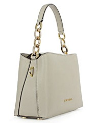 Michael Kors Grey Leather Shoulder Bag