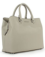 Michael Kors Grey Leather Satchel Bag