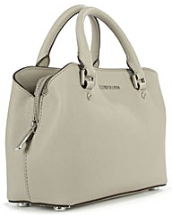 Michael Kors Grey Saffiano Satchel Bag