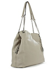 Michael Kors Taupe Leather Shoulder Bag